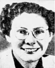 black and white photo of Delphine Downing